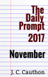 The Daily Prompt 2017: November by J. C. Cauthon