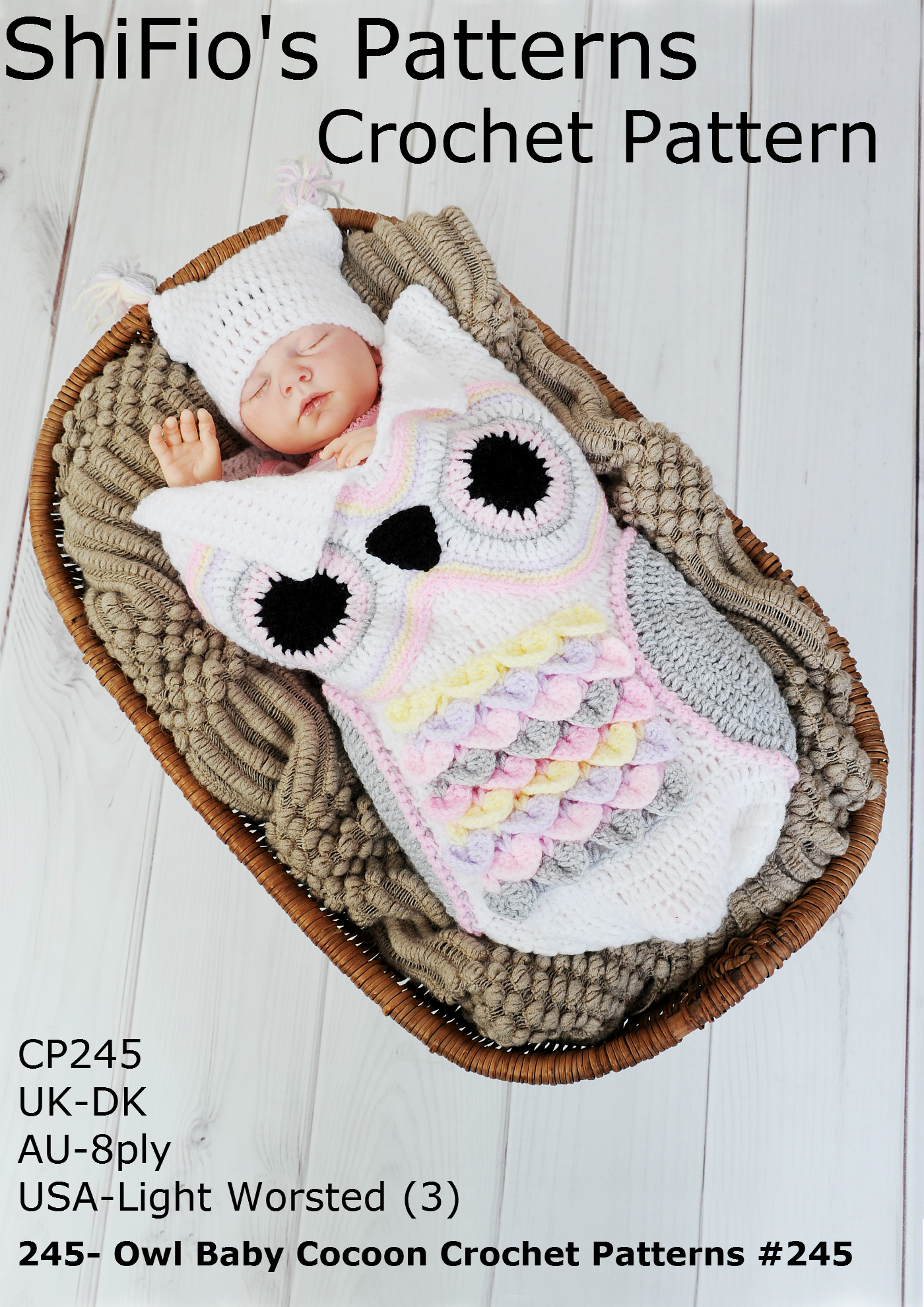 Smashwords – 245- Owl Baby Cocoon Crochet Patterns #245 – a book by ...