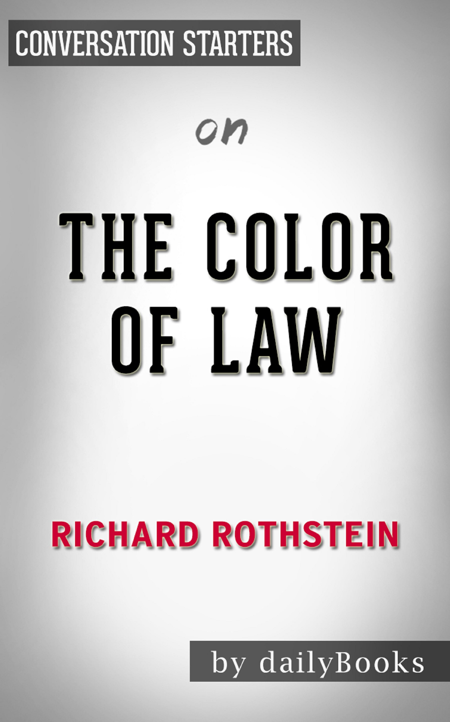 Smashwords The Color Of Law By Richard Rothstein Conversation