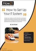 Dr Jim Porter - How to Set up Your I.T. System