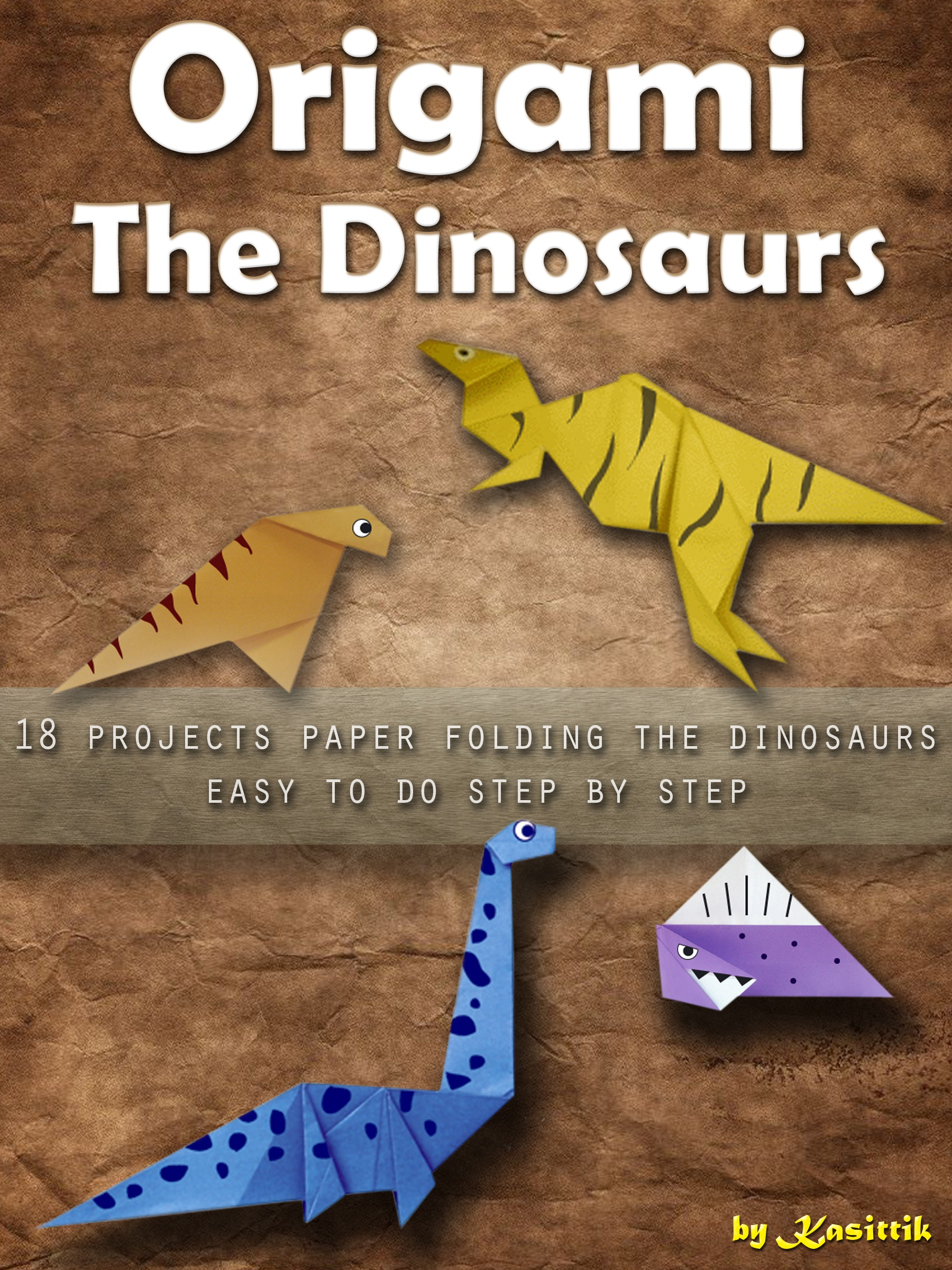 Fun Origami for Children: Dino!: 12 daring dinosaurs to fold: Ono ... | 2400x1800