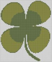 Mother Bee Designs - Four Leaf Clover Cross Stitch Pattern