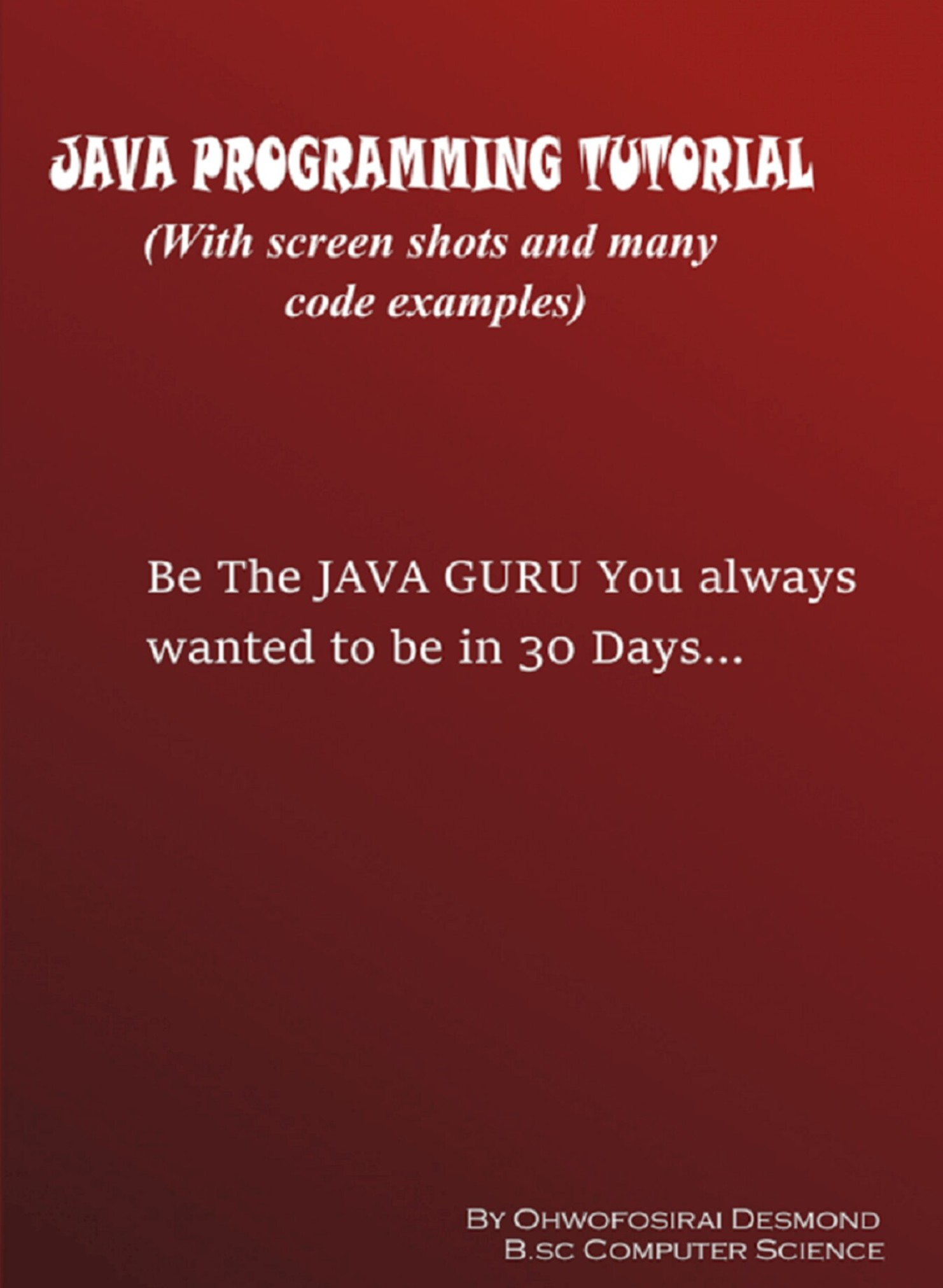 Smashwords java programming tutorial with screen shots and many java programming tutorial with screen shots and many code examples baditri Image collections