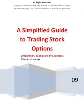 Marco Anthony - A Simplified Guide to Trading Stock Options