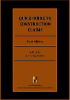 Madhav Raj Nadarajan - Quick Guide To Construction Claims