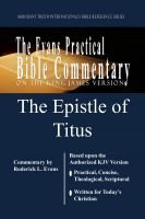 Roderick Levi Evans - The Epistle of Titus: The Evans Practical Bible Commentary
