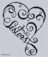 Mother Bee Designs - Sisters Heart Cross Stitch Pattern