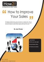 Dr Jim Porter - How to Improve Your Sales