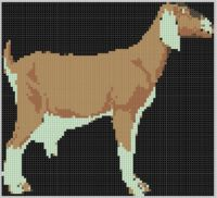 Mother Bee Designs - Goat Cross Stitch Pattern