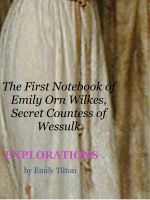 Emily Tilton - Explorations: The First Notebook of Emily Orn Wilkes, Secret Countess of Wessulk