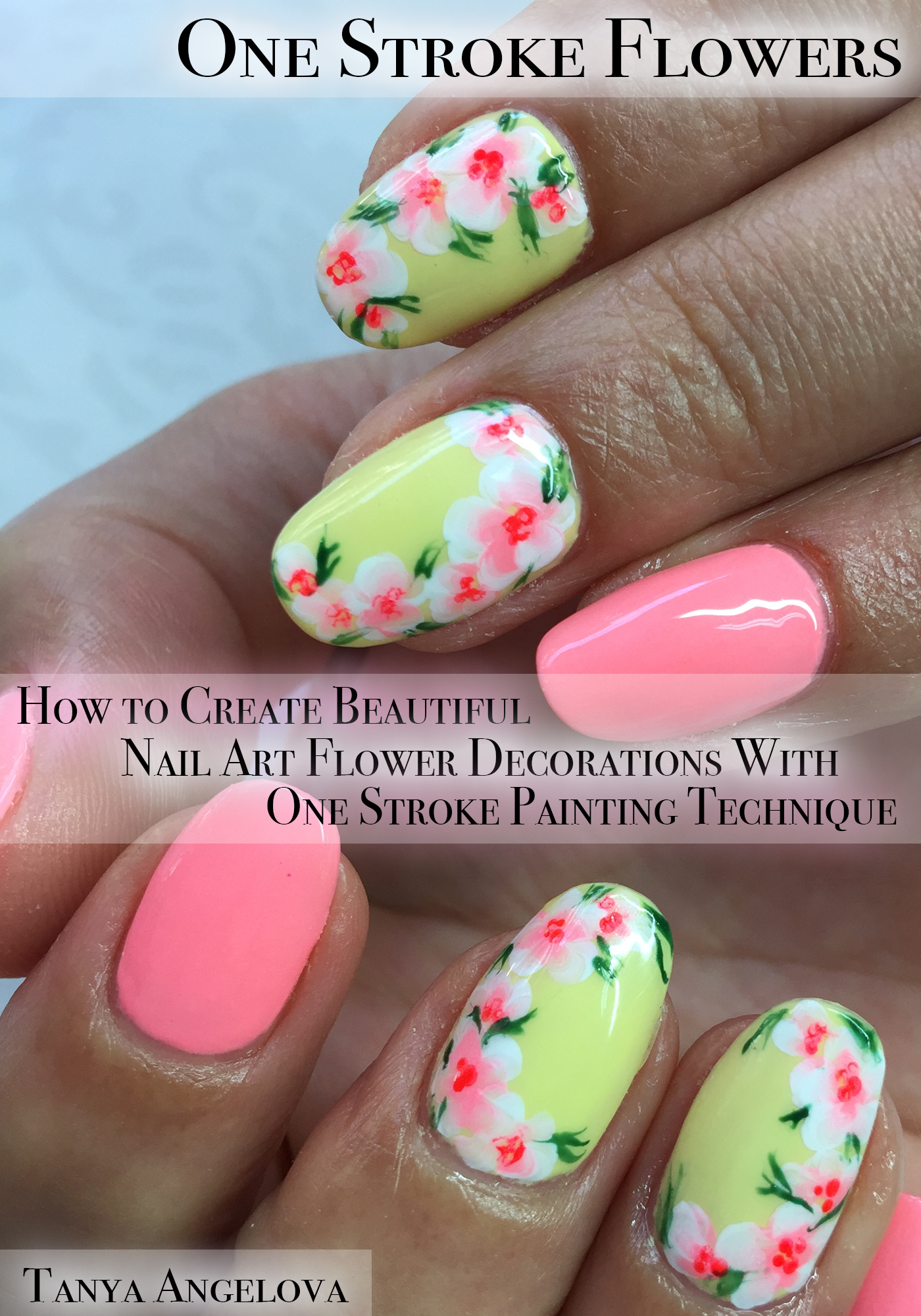 Smashwords One Stroke Flowers How To Create Beautiful Nail Art