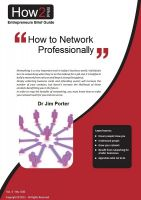 Dr Jim Porter - How to Network Professionally