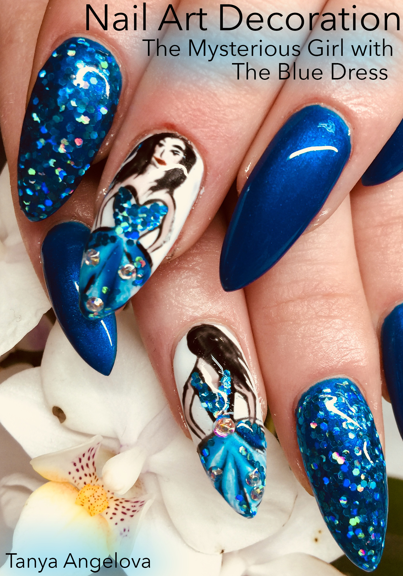 Smashwords – Nail Art Decoration: The Mysterious Girl with The Blue ...