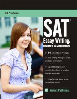 Vibrant Publishers - SAT Essay Writing: Solutions to 50 Sample Prompts