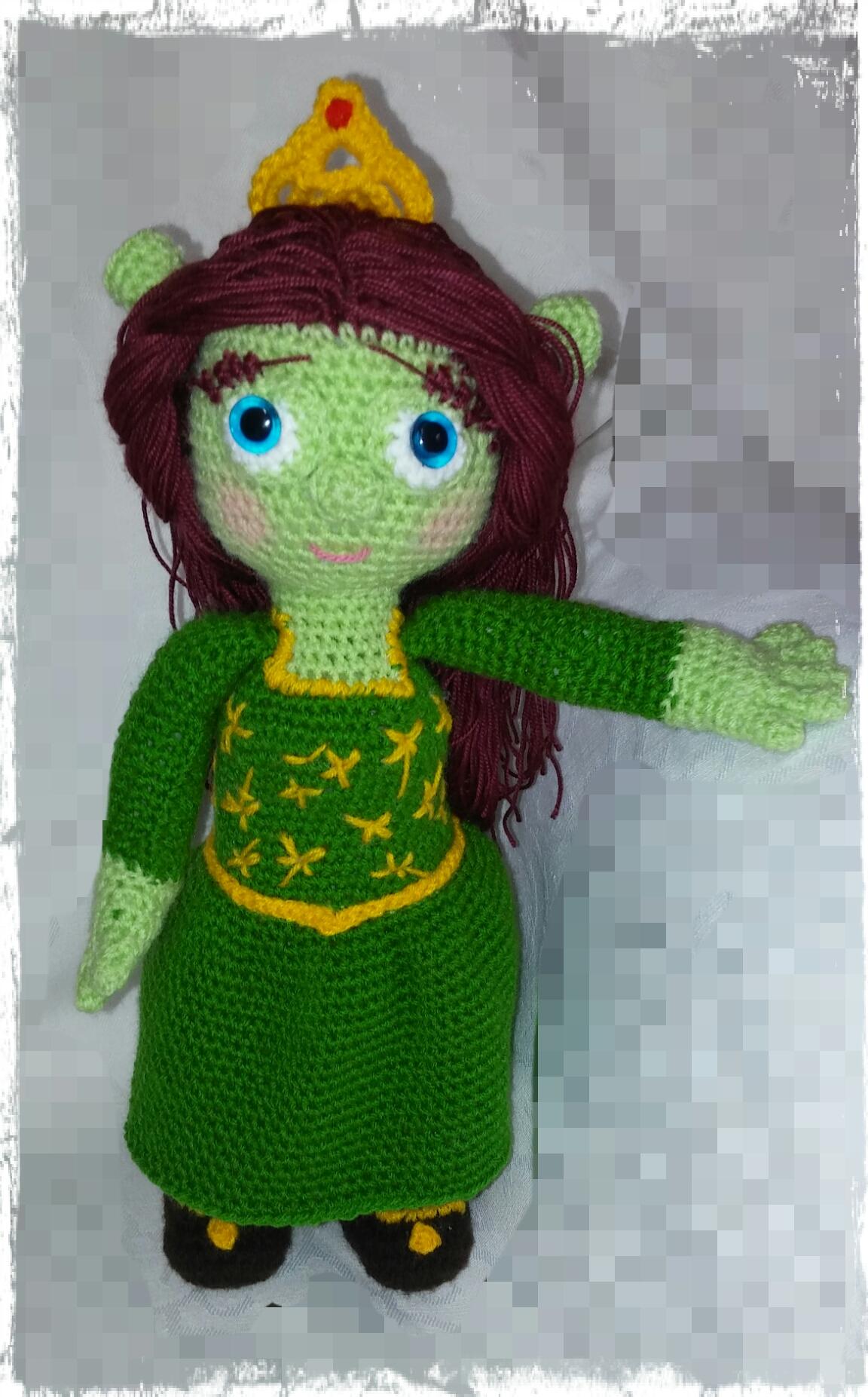 Crochet pattern amigurumi Princess Fiona (shrek) by ternura amigurumi b6d2d94dd57