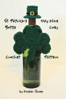 Kimber Shook - St. Patrick's Day Wine Bottle Cozy Crochet Pattern