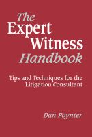 Cover for 'The Expert Witness Handbook'