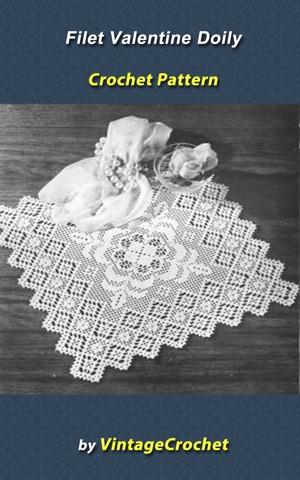 Favorite Filet crochet pattern leaflet Tulip Filet Doily