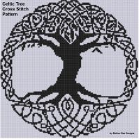 Mother Bee Designs - Celtic Tree Cross Stitch Pattern
