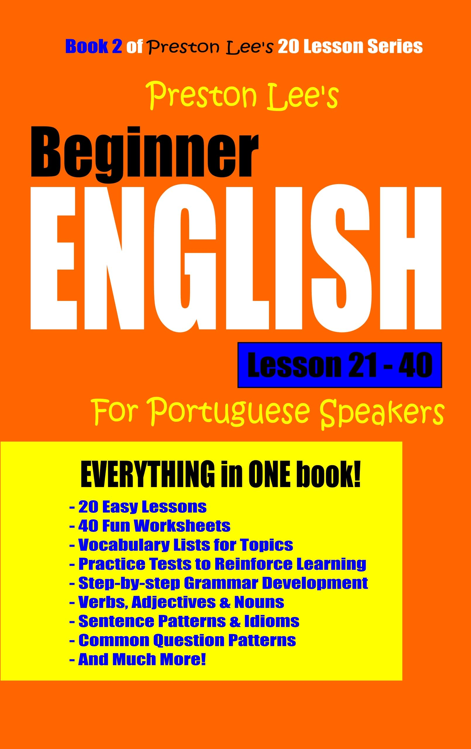 Preston Lee's Beginner English Lesson 21 - 40 For Portuguese Speakers, an  Ebook by Preston Lee
