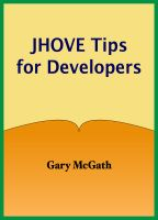 cover image for JHOVE Tips for Developers