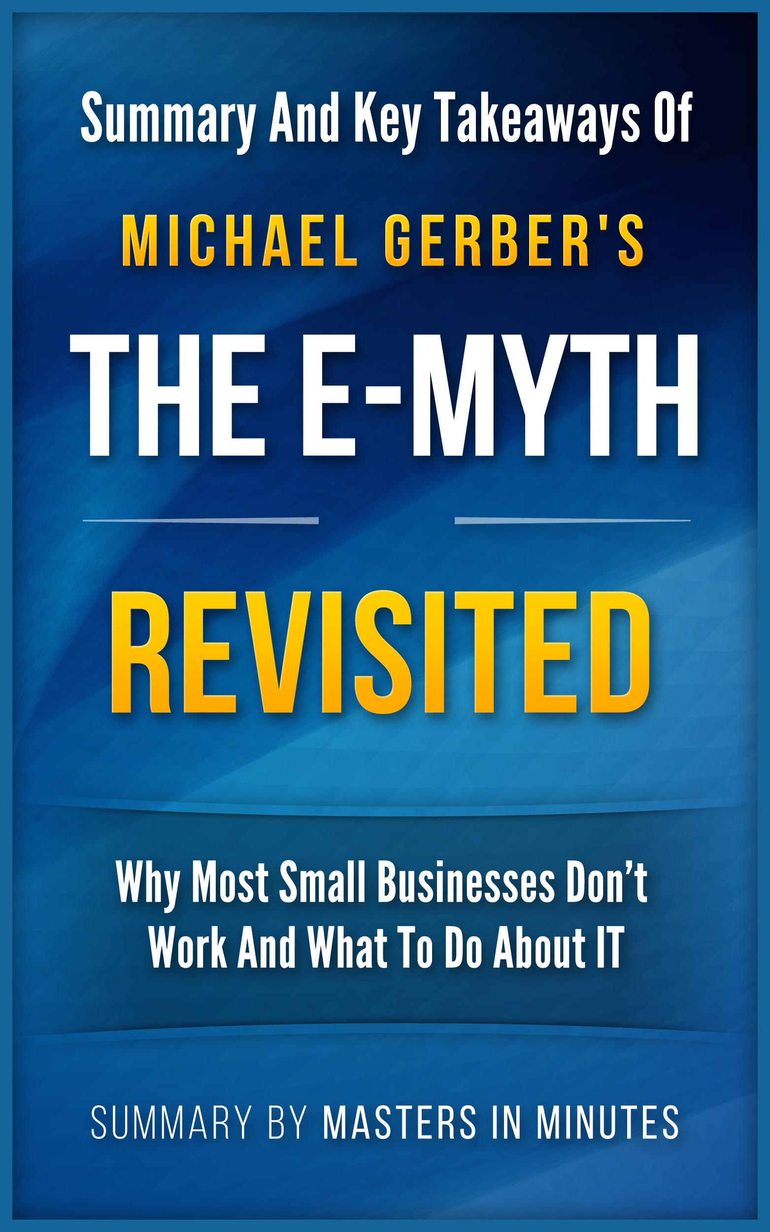 The E-Myth ...