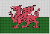 Mother Bee Designs - Wales Dragon Flag Cross Stitch Pattern