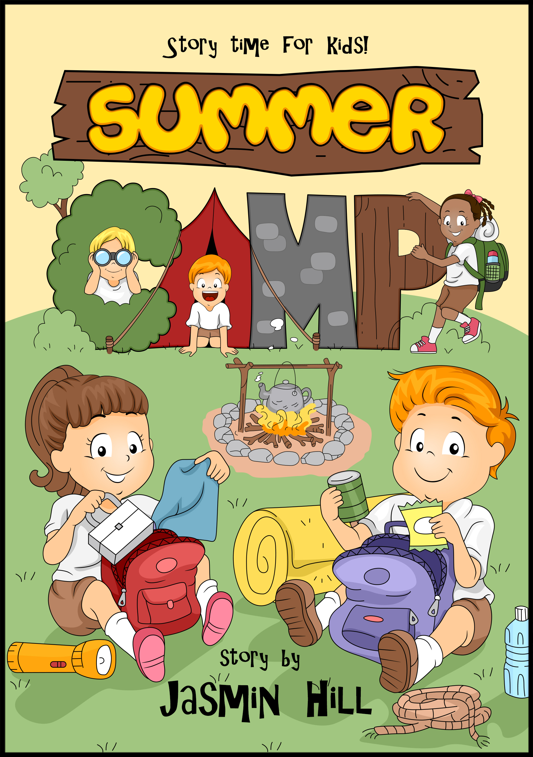 Kids Story Book Cover : Smashwords summer camp story time for kids a book by