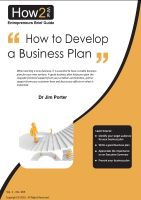 Dr Jim Porter - How to Develop a Business Plan