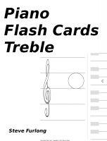 Steve Furlong - Piano Flash Cards - Treble