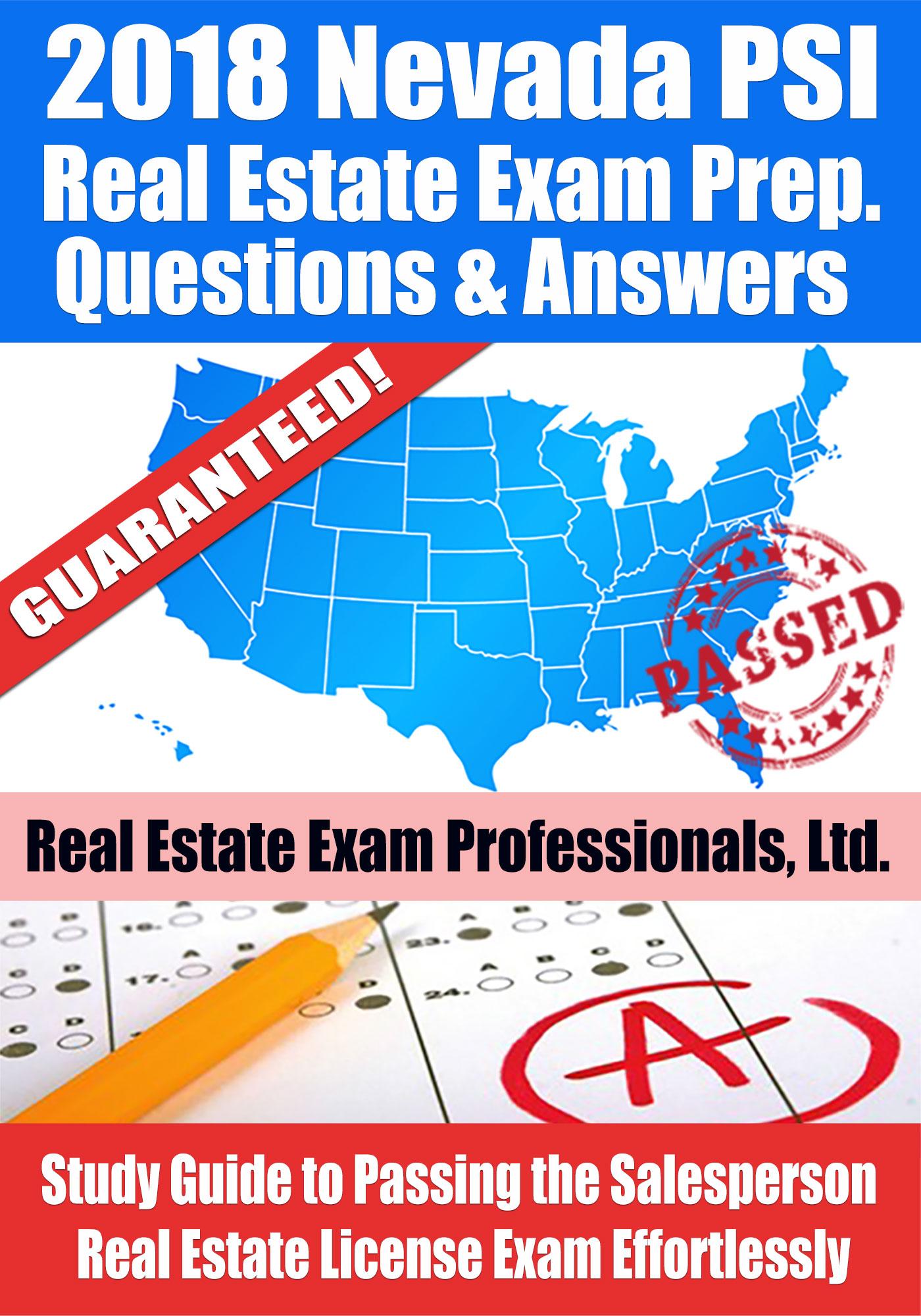 2018 Nevada PSI Real Estate Exam Prep Questions ...