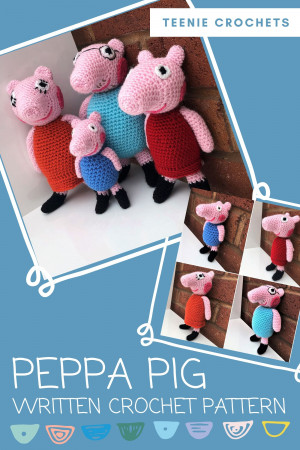 Peppa Pig - free crochet pattern - Amigurumi Today | 450x300