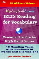 J.P. Williams - IELTS Reading for Vocabulary - Essential Practice for High Band Scores