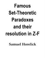 Samuel Horelick - Set-Theoretic Paradoxes and their Resolution in Z-F