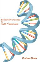 Cover for 'Biochemistry Dictionary for Health Professionals'