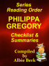 Phillipa Gregory - Best Reading Order with Summaries and Checklist by Albie Berk