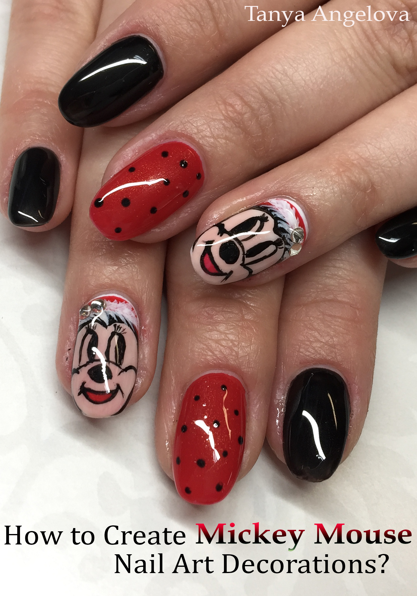 Smashwords How To Create Mickey Mouse Nail Art Decorations A