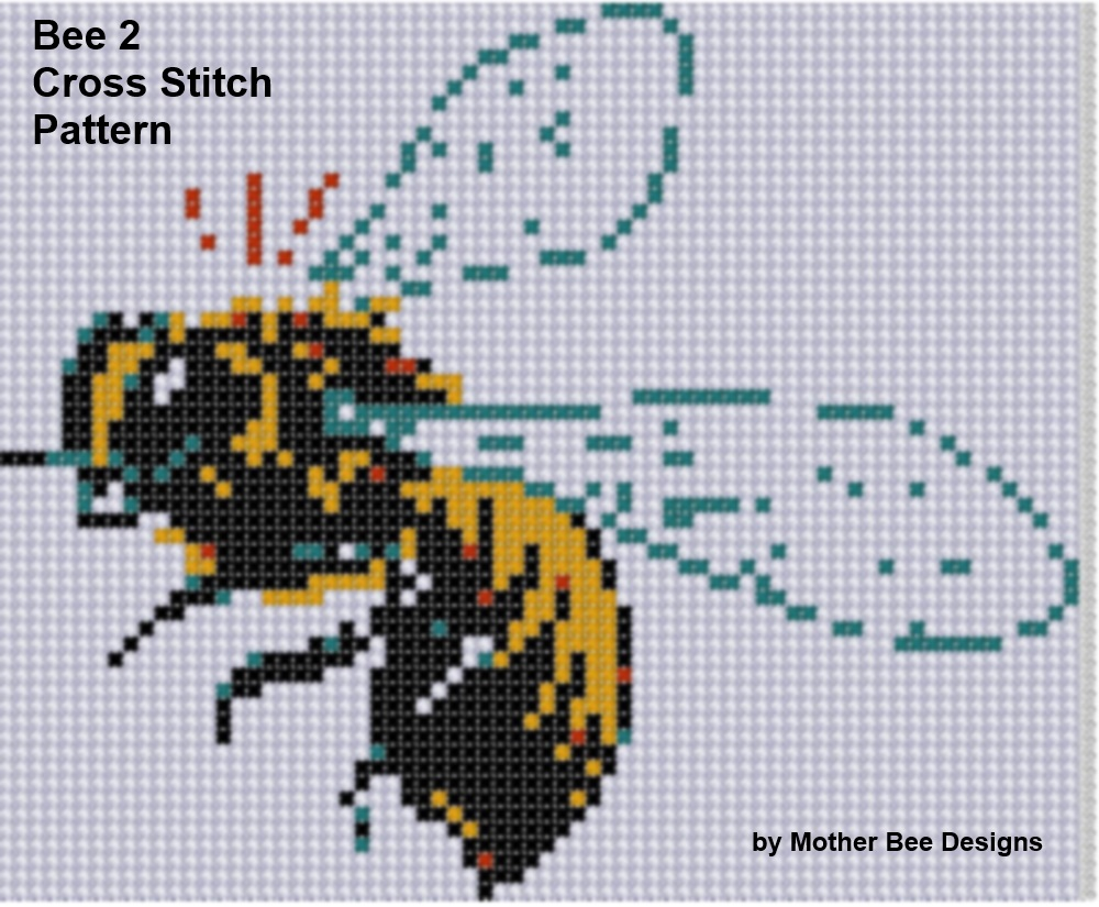 Bee 2 Cross Stitch Pattern