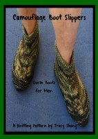 Tracy Zhang - Camouflage Boot Slippers Dorm Boots for Men Knitting Pattern