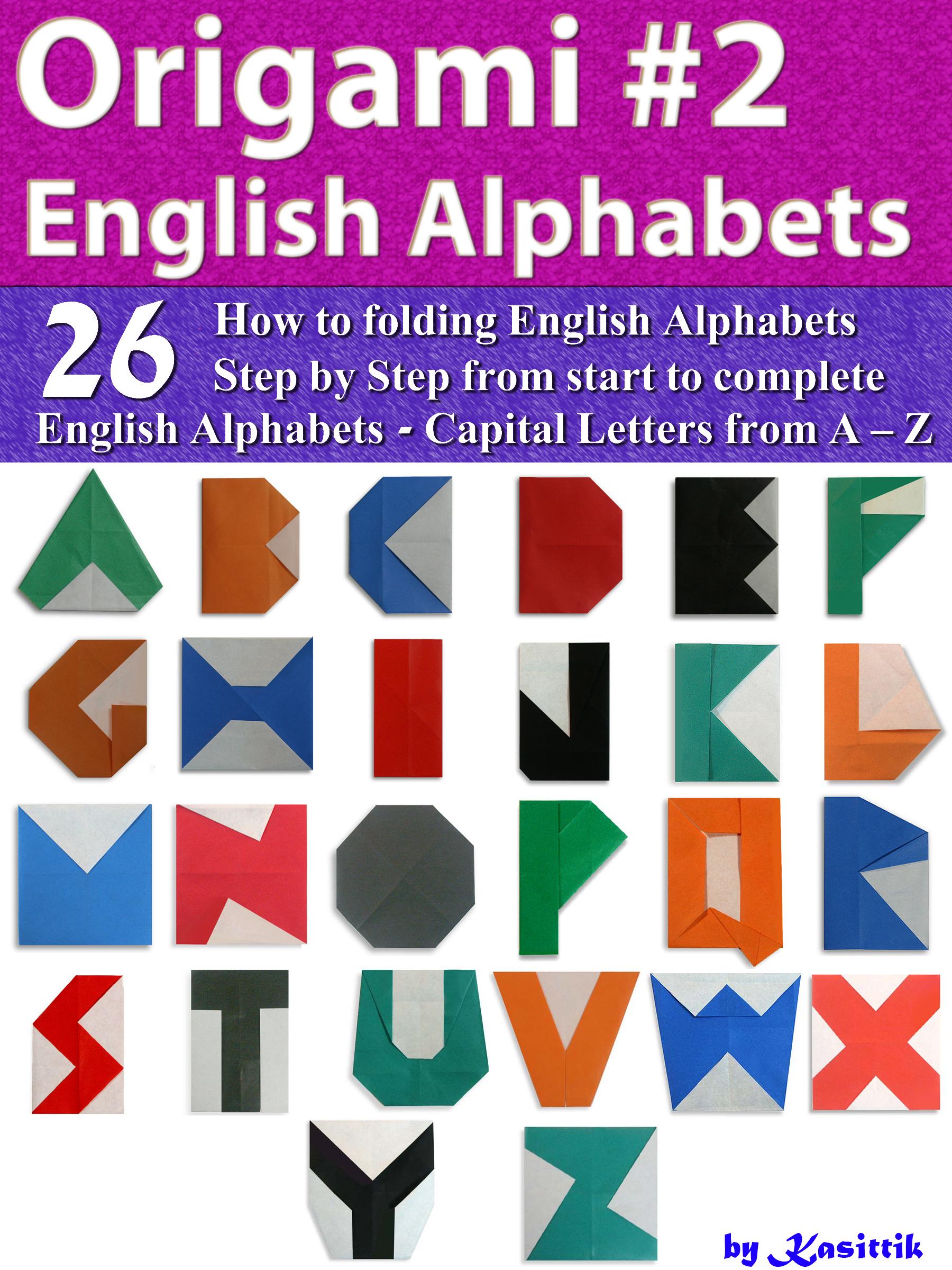 Origami English Alphabets Style 2